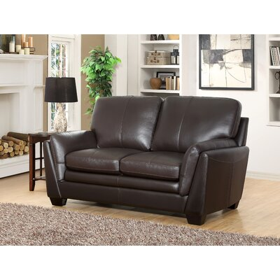 Whitstran Top Grain Leather Sofa and Loveseat Set