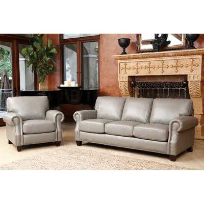 Cairnbrook Leather Sofa and Armchair Set
