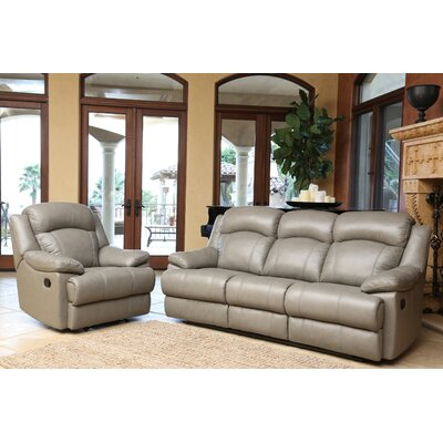 Cuyler Leather Sofa and Recliner Set