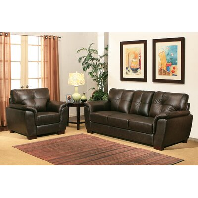 Lawley 2 Piece Leather Living Room Set