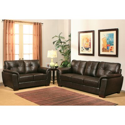 Lawley Leather Sofa and Loveseat Set
