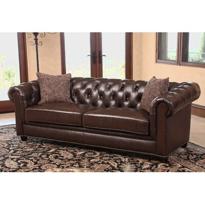 Mitchem Leather Sofa and Armchair Set