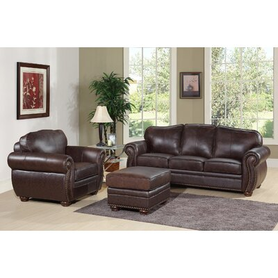 Morgenstern 3 Piece Leather Living Room Set