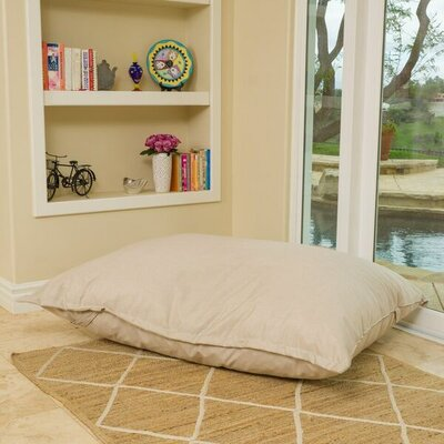 Bean Bag Lounger Color: Canvas Flax