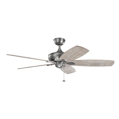 Donna 60 5-Blade Ceiling Fan Finish: Antique Pewter with Dark Cherry Blades