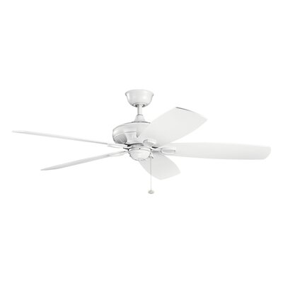 Donna 60 5-Blade Ceiling Fan Finish: Matte White