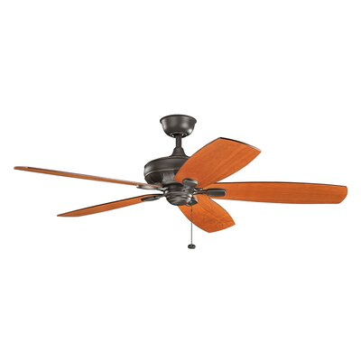 Donna 60 5-Blade Ceiling Fan Finish: Olde Bronze with Dark Walnut Blades