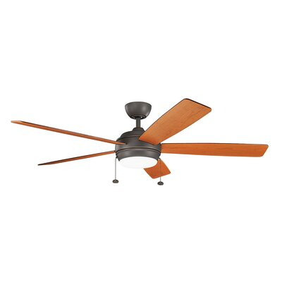 Danesfield 60 LED 5-Blade Ceiling Fan Finish: Olde Bronze with Cherry Blades