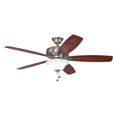 Silas 60 Select 5-Blade Ceiling Fan Finish: Burnished Antique Pewter with Dark Cherry Blades
