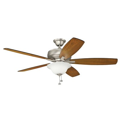 Silas 60 Select 5-Blade Ceiling Fan Finish: Brushed Nickel with Silver Blades