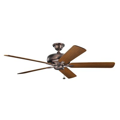 Silas 60 5-Blade Ceiling Fan Finish: Oil Brushed Bronze with Walnut Blades