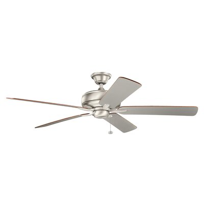 Silas 60 5-Blade Ceiling Fan Finish: Brushed Nickel with Silver Blades