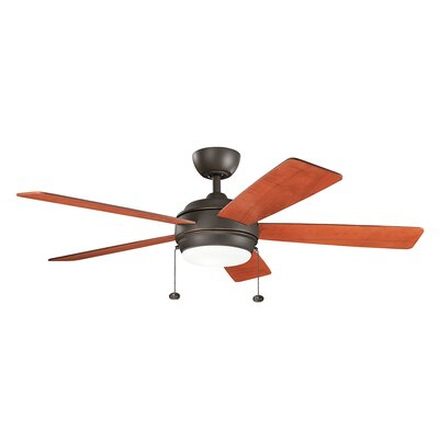 Danesfield 52 LED 5-Blade Ceiling Fan Finish: Olde Bronze with Walnut Blades