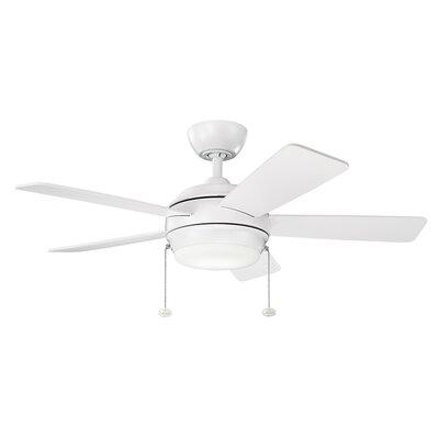 Danesfield 42 LED 5-Blade Ceiling Fan Finish: Matte White