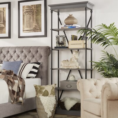Eastgate 84 Etagere Bookcase Color: Grey