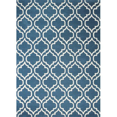 Lugent Handmade Teal Area Rug Rug Size: 5' x 7'