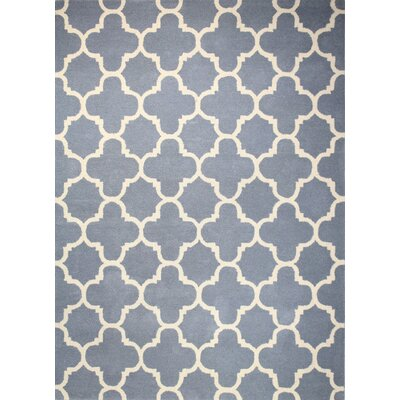 Lugent Hand-Tufted Light Blue Area Rug Rug Size: 76 x 96