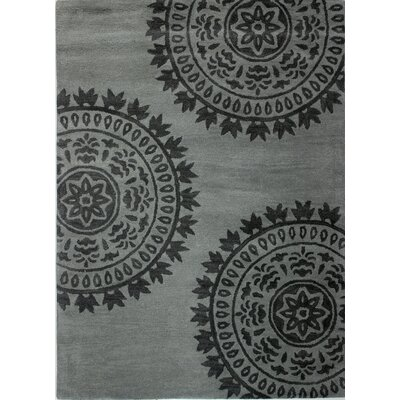 Cassie Hand-Tufted Grey Area Rug Rug Size: Rectangle 76 x 96