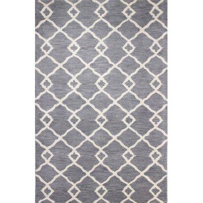 Coronet Hand-Tufted Grey Area Rug Rug Size: 86 x 116
