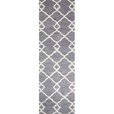 Coronet Hand-Tufted Grey Area Rug Rug Size: Runner 26 x 8