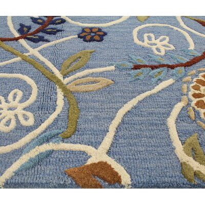 Corrine Hand Tufted Denim Area Rug Size Runner 2 6 x 8