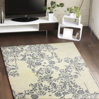 Kofi Hand Tufted Ivory Area Rug Rug Size: Rectangle 56 x 86