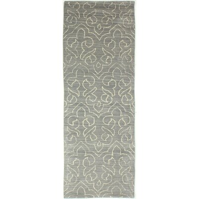 Crestshire Hand-Tufted Grey Area Rug Rug Size: Runner 26 x 8
