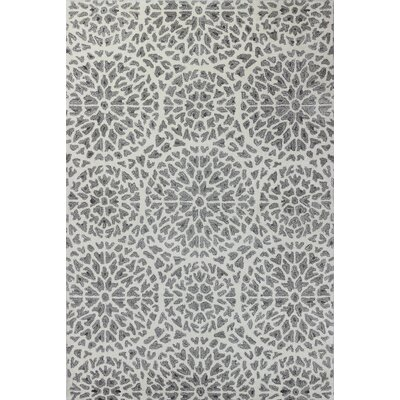 Crystal Hand-Tufted White Area Rug Rug Size: 36 x 56