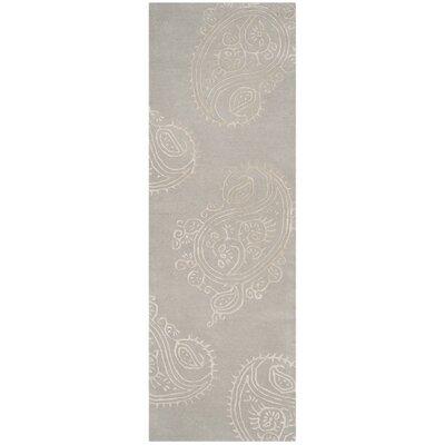 Shillington Hand-Tufted Silver/Beige Area Rug Rug Size: Runner 23 x 7