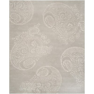 Shillington Hand-Tufted Silver/Beige Area Rug Rug Size: 4 x 6