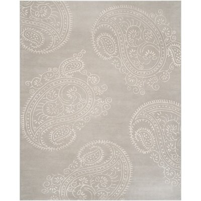 Shillington Hand-Tufted Silver/Beige Area Rug Rug Size: 8 x 10