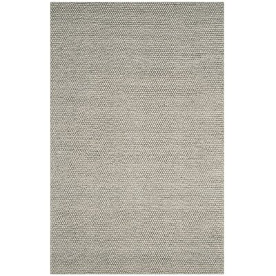 Dascomb Hand-Tufted Silver Area Rug Rug Size: 4 x 6