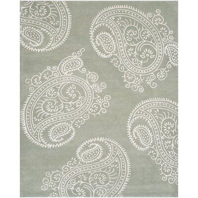 Shillington Hand-Tufted Gray/Ivory Area Rug Rug Size: 26 x 4