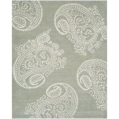 Shillington Hand-Tufted Gray/Ivory Area Rug Rug Size: 6 x 9