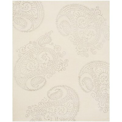 Shillington Hand-Tufted Ivory/Beige Area Rug Rug Size: Rectangle 4 x 6