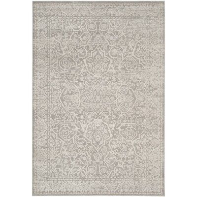 Douglass Gray/Beige Area Rug Rug Size: Rectangle 51 x 76