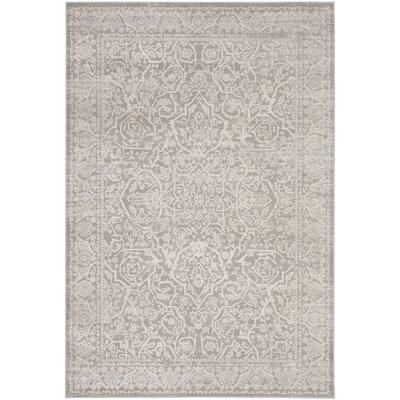 Douglass Gray/Beige Area Rug Rug Size: 51 x 76