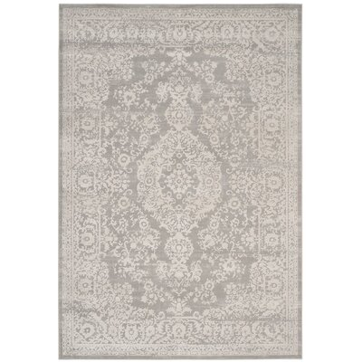 Douglass Gray/Beige Area Rug Rug Size: Rectangle 8 x 10