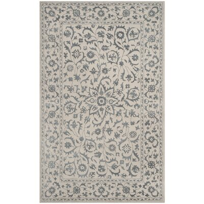 Daphne Hand-Tufted Gray/Beige Area Rug Rug Size: Rectangle 4 x 6