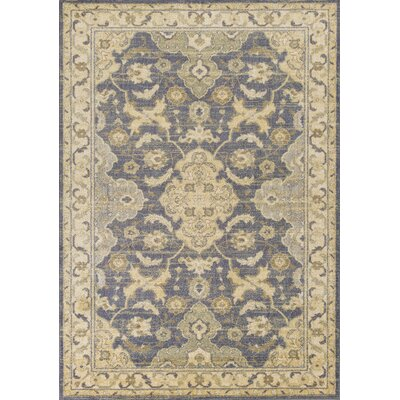Dawes Blue/Beige Area Rug Rug Size: Rectangle 53 x 78