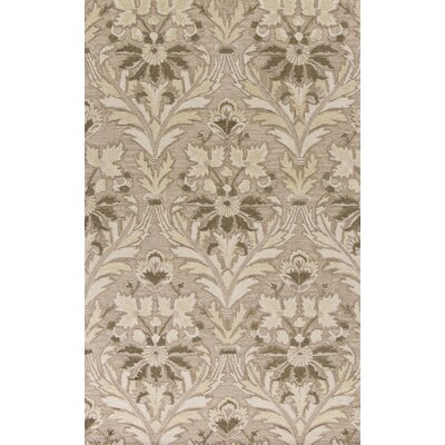 Coronet Hand-Tufted Ivory/Brown Area Rug Rug Size: 5 x 8