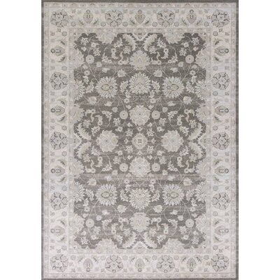 Sharo Charcoal/Ivory Area Rug Rug Size: Rectangle 710 x 1010
