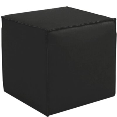 Davenport French Seam Cocktail Ottoman Finish: Linen Black