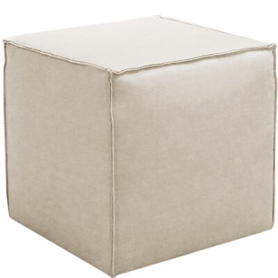 Davenport French Seam Cocktail Ottoman Finish: Linen Talc