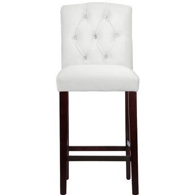 Cyrus 31 Bar Stool Upholstery Color: White