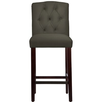 Cyrus 31 Bar Stool Upholstery Color: Pewter
