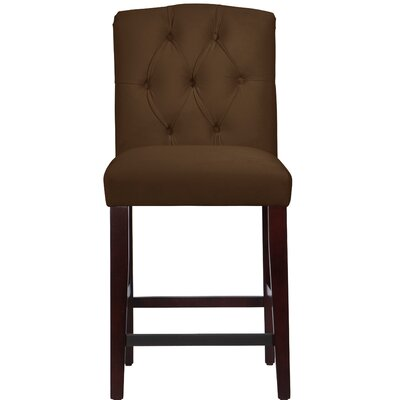 Cyrus Tufted Bar Stool Upholstery Color: Chocolate