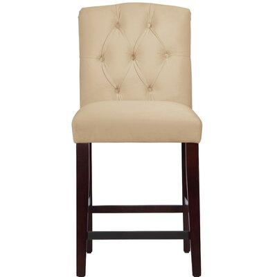 Cyrus Tufted Bar Stool Upholstery Color: Buckwheat