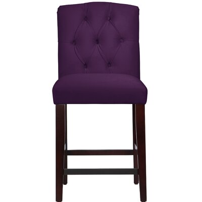 Cyrus Tufted Bar Stool Upholstery Color: Aubergine
