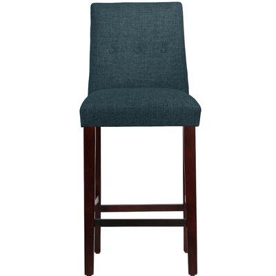Cyrus Bar Stool Upholstery: Navy